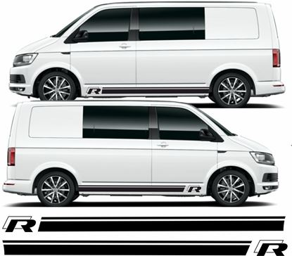 """Picture of VW T5 / T6  """"R""""  Stripes / Stickers"""