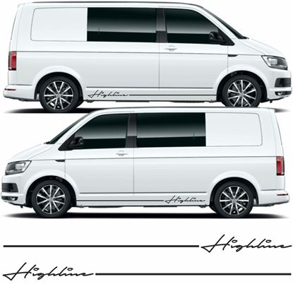 "Picture of VW T5 / T6 ""Highline"" Stripes &  Stickers"