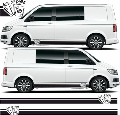 "Picture of VW T5 / T6  ""Ace of Dubs""  Stripes / Stickers"