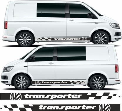 "Picture of VW T5 / T6   ""VW Transporter"" Side Stripes /  Stickers"