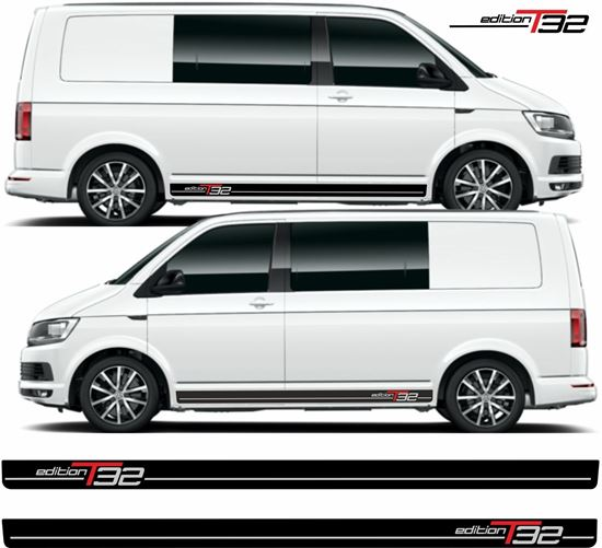 """Picture of VW T5 / T6 """"Edition T32"""" side Stripes / Decals"""