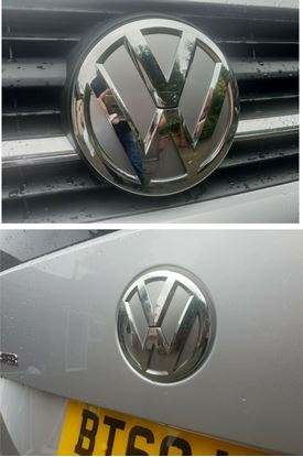 Picture of VW T6 Front &  Rear Badge Vinyl Inlays