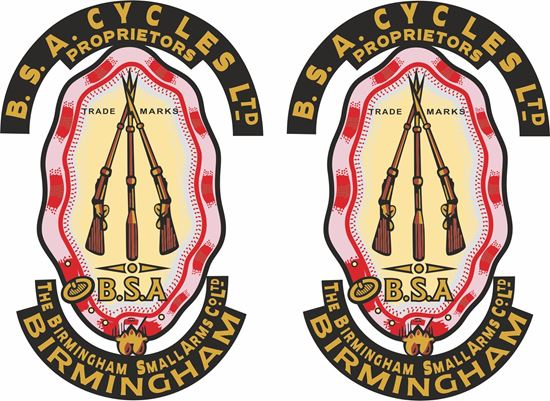 Picture of B.S.A. Cycles Birmingham... Decals / Stickers