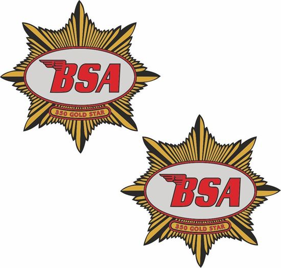 Picture of BSA 350 Gold Star Decals / Stickers