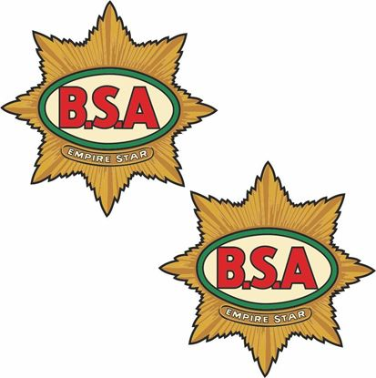Picture of BSA Empire Star Decals / Stickers