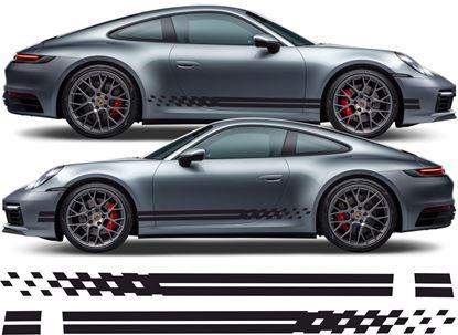 Picture of Porsche 992 chequer Stripes / Stickers