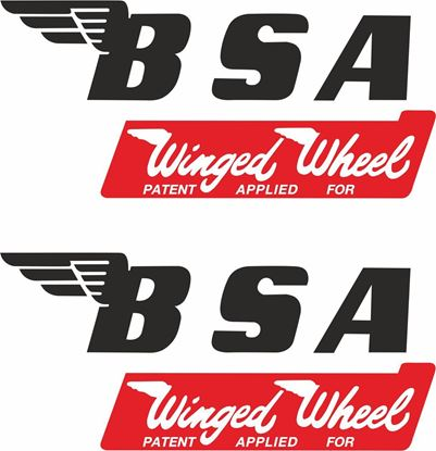 Picture of BSA Winged Wheel...  Decals / Stickers