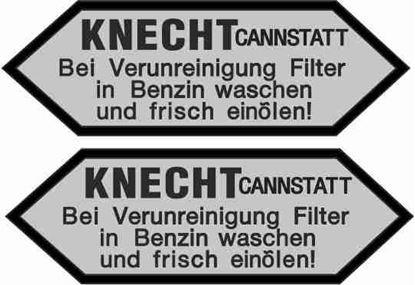 "Picture of BMW ""KNECHT Cannstatt..."" Replacement  Decals / Stickers"