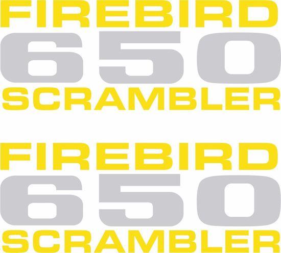 Picture of BSA Firebird 650 Scrambler Side panel restoration Decals / Stickers