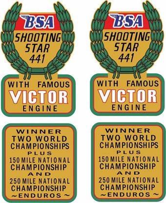 Picture of BSA Shooting Star 441...  Decals / Stickers