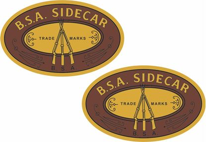 Picture of BSA Sidecar Decals / Stickers