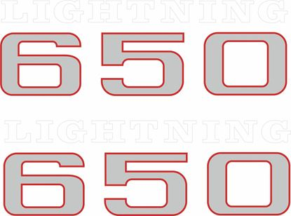 Picture of BSA Lightning 650 Decals / Stickers