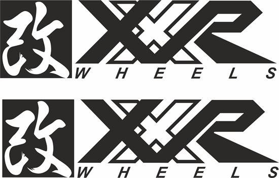 "Picture of ""XXR Wheels"" Decals / Stickers"