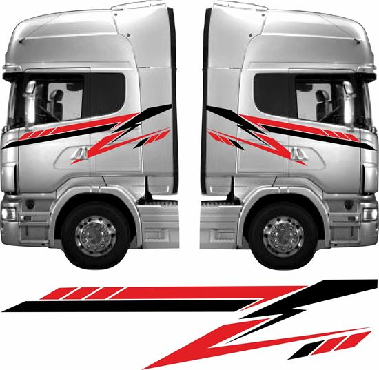 Picture of Truck cab full side Graphics / Stickers