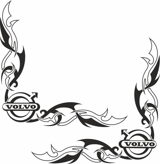 Picture of Volvo corner Glass  Decals / Sticker
