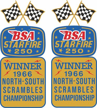 Picture of BSA Starfire 250 Winner...  Decals / Stickers