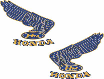 Picture of Honda Classic Tank replacement Decals / Stickers