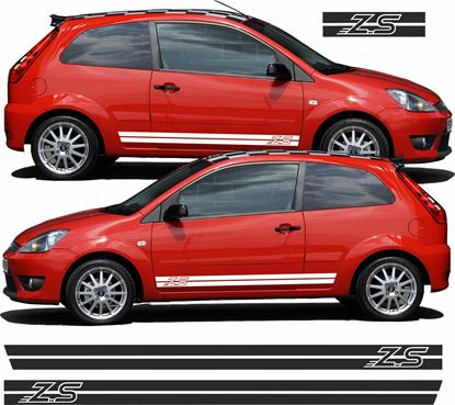 "Picture of Ford Fiesta MK6 ZS Custom Design ""ZS"" side Stripes / Stickers"