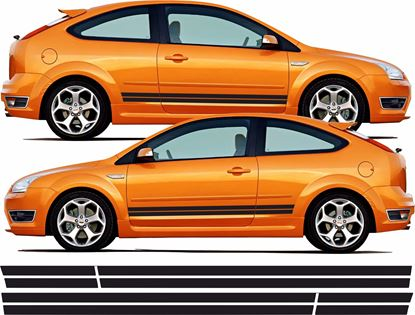 Picture of Ford Focus ST MK2 3 Door side Stripes / Stickers