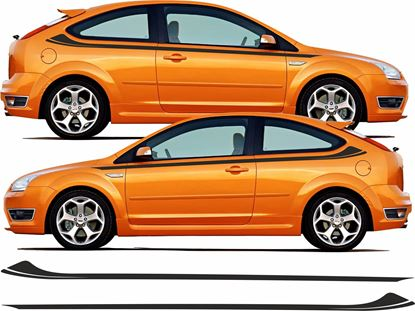 Picture of Ford Focus ST MK2 Custom side Stripes / Stickers