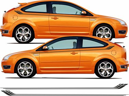 Picture of Ford Focus MK2 custom side Stripes / Stickers