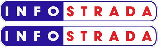 """Picture of """"Info strada"""" Decals / Stickers"""