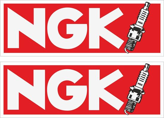 """Picture of """"NGK"""" Decals / Stickers"""