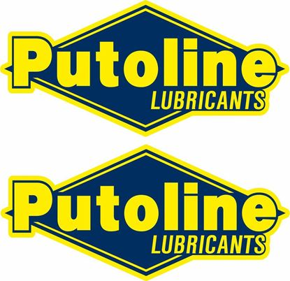 """Picture of """"Putoline Lubricants"""" Decals / Stickers"""