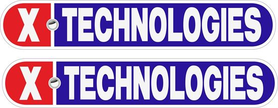 """Picture of """"X Technologies"""" Decals / Stickers"""