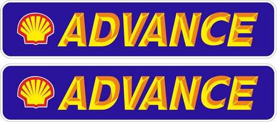 """Picture of """"Shell Advance"""" Decals / Stickers"""