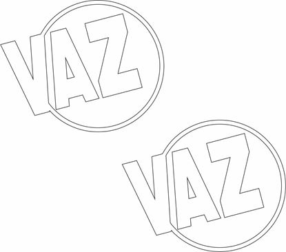 """Picture of """"VAZ"""" Decals / Stickers"""