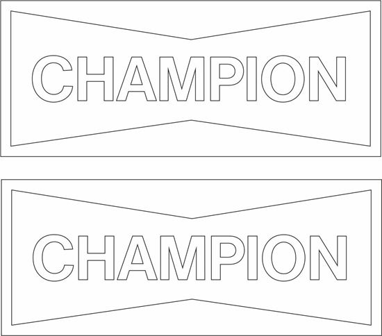 """Picture of """"Champion"""" Decals / Stickers"""