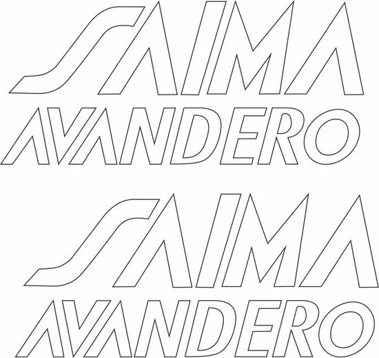 "Picture of ""Saima Avandero"" Decals / Stickers"