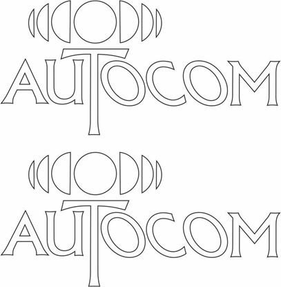 "Picture of ""Autocom"" Decals / Stickers"