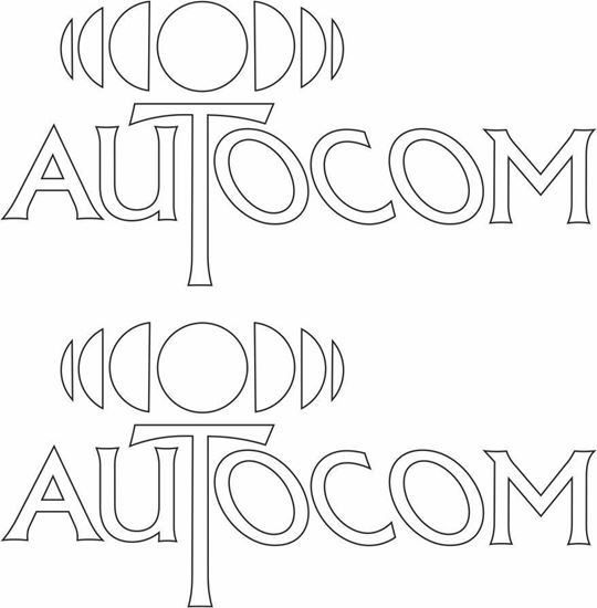 """Picture of """"Autocom"""" Decals / Stickers"""