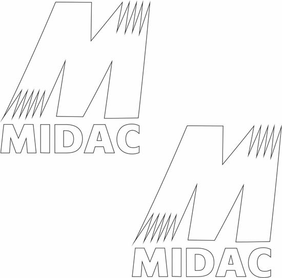 "Picture of ""Midac"" Decals / Stickers"