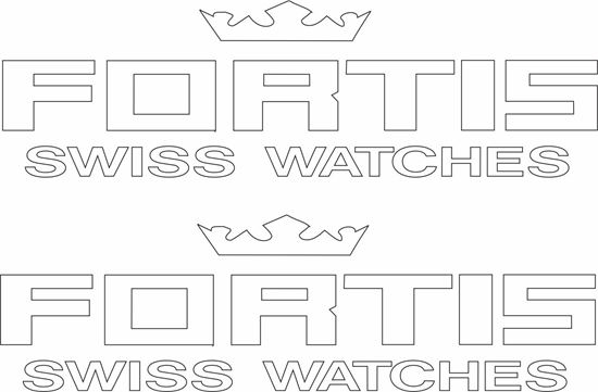 "Picture of ""Fortis Swiss Watches"" Decals / Stickers"