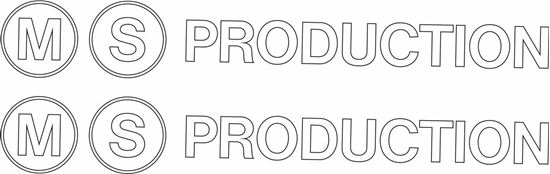"Picture of ""MS Production"" Decals / Stickers"