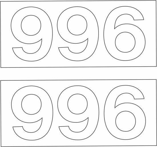 """Picture of """"996"""" Decals / Stickers"""