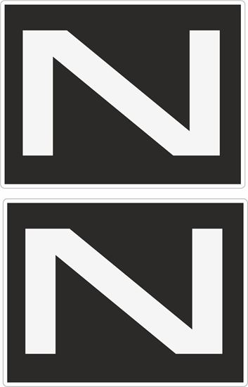 """Picture of """"N"""" Decals / Stickers"""