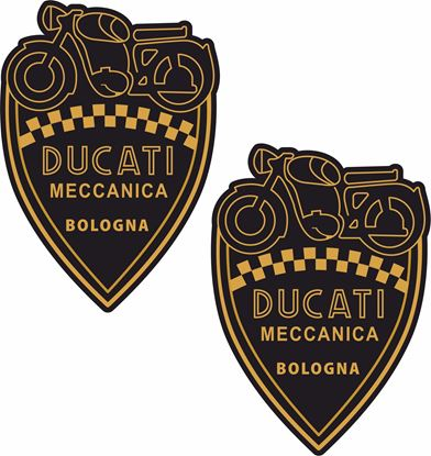 Picture of Ducati Maccanica Shield Decals / Stickers