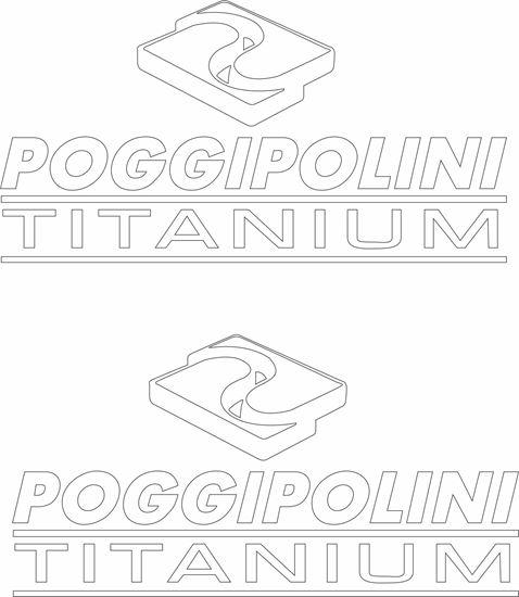 """Picture of """"Poggipolini Titanium"""" Decals / Stickers"""