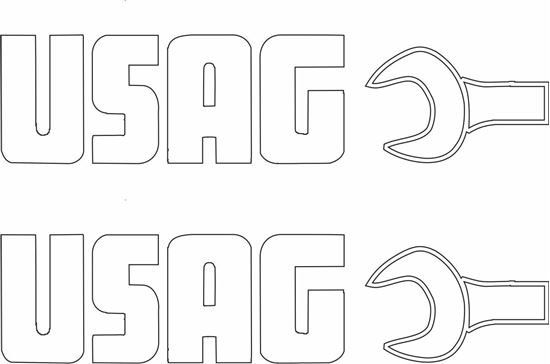 """Picture of """"Usag"""" Decals / Stickers"""