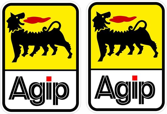 """Picture of """"Agip"""" Decals / Stickers"""