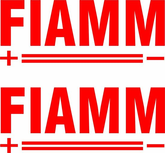 "Picture of ""Fiamm"" Decals / Stickers"