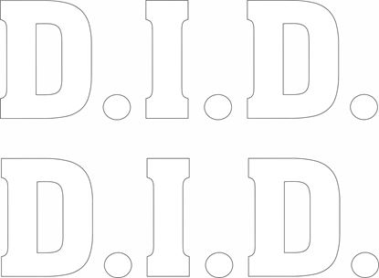 "Picture of ""D.I.D."" Decals / Stickers"