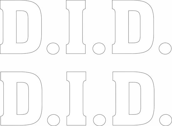 """Picture of """"D.I.D."""" Decals / Stickers"""