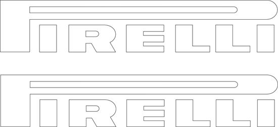 "Picture of ""Pirelli"" Decals / Stickers"