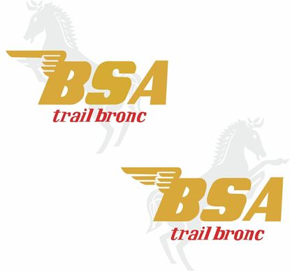 Picture of BSA Trial bronc Decals / Stickers