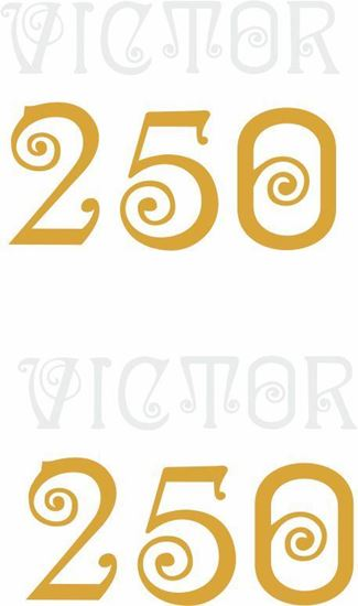 Picture of BSA Victor 250 Decals / Stickers
